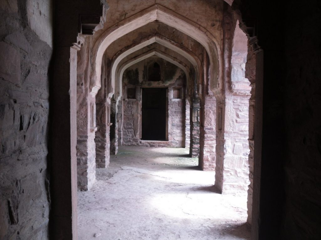 Inside the Bhangarh Fort