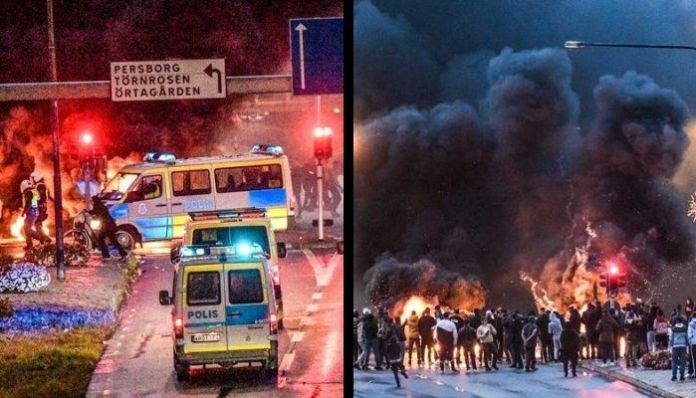 Massive riots broke up in Sweden