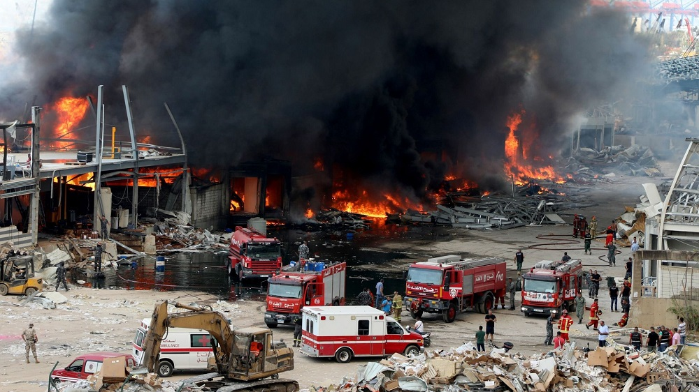 Beirut Fire and Explosion